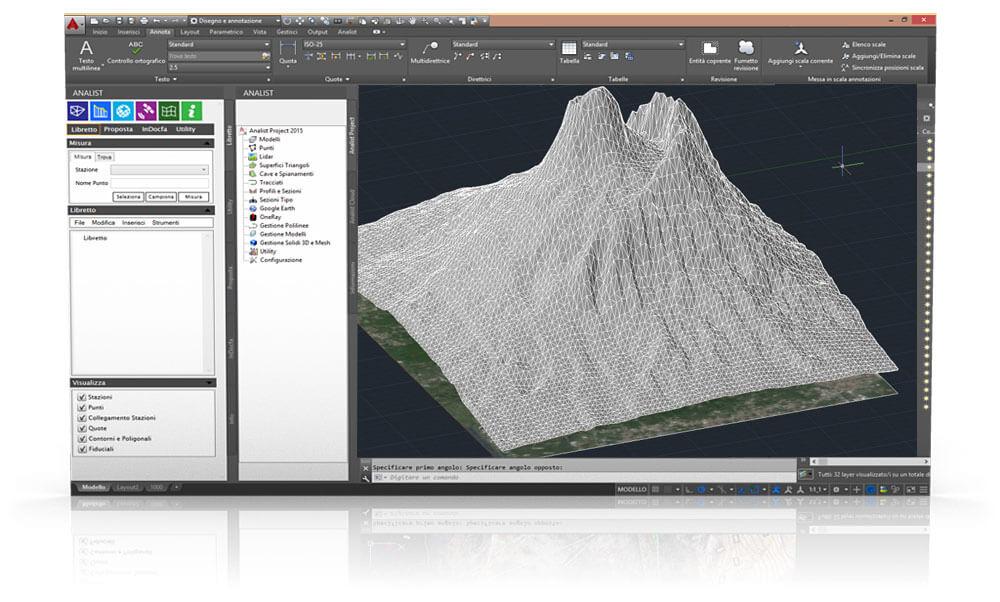Software topografia e catasto analist group for Software per disegno 3d