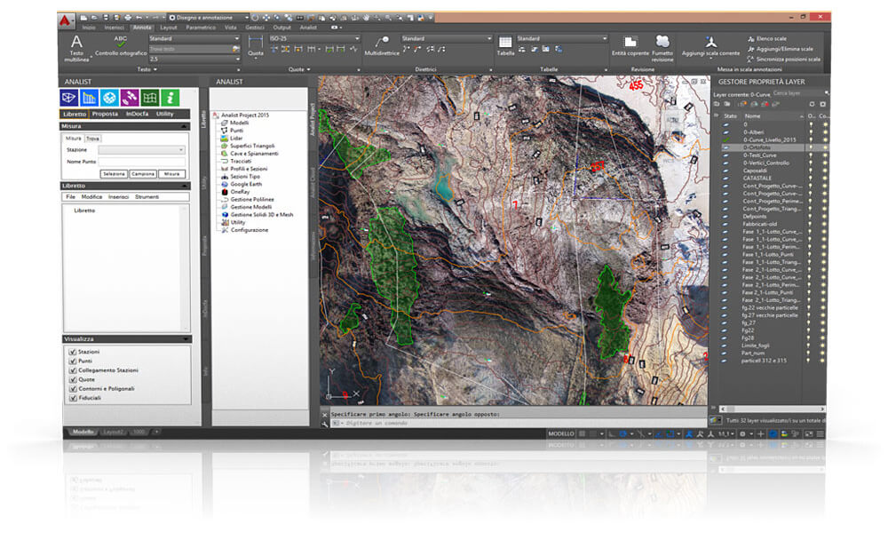 Topographic Survey Software based on the Autodesk Technology