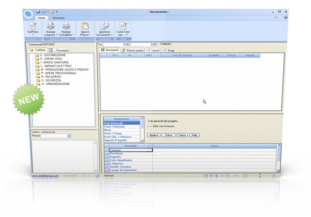 Software computo metrico e contabilit lavori analist group - Computo metrico per realizzazione di un bagno ...