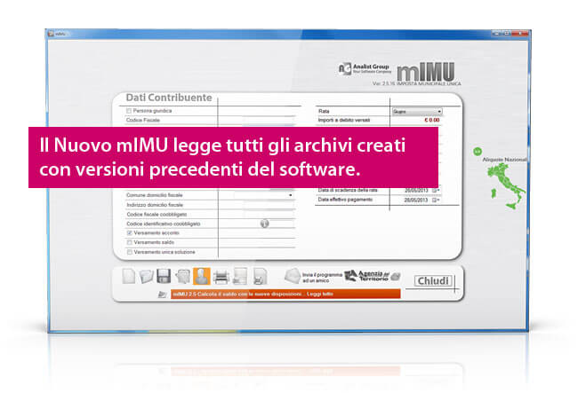 Software calcolo IMU