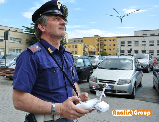 rilievo incidente drone