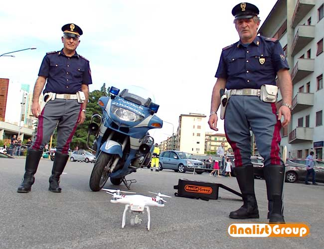 rilievo incidenti drone