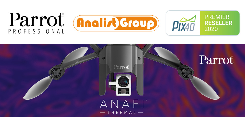 Analist Group | Parrot | Pix4D | Webinar Termografia con Drone